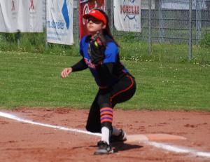 Zoe Moosbrugger machte nicht nur auf der 1. Base eine gute Figur