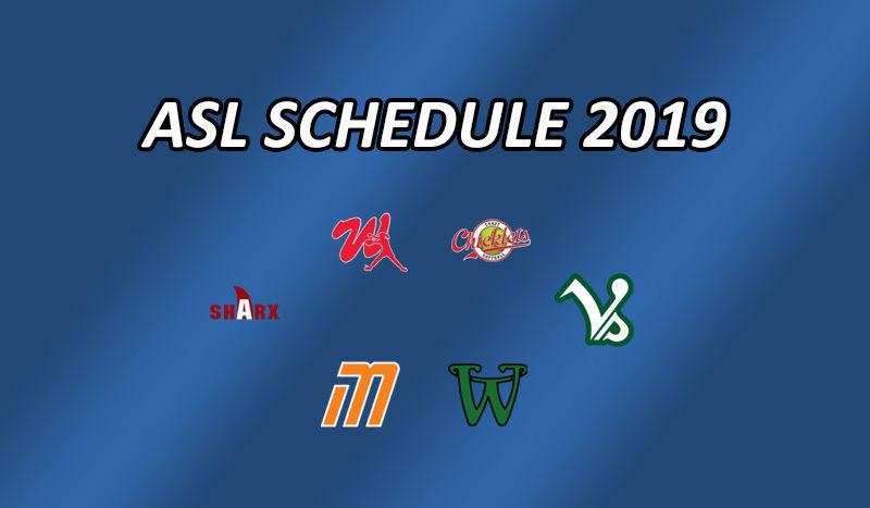 Der Spielplan in der Austrian Softball League 2019